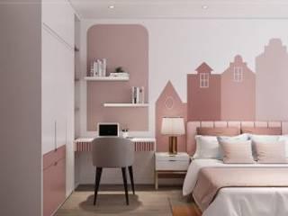 Hà Đô Centrosa và mẫu thiết kế nội thất dậy sóng Phòng ngủ phong cách hiện đại bởi Thiết kế nội thất ICONINTERIOR Hiện đại