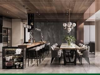 Bí mật phía sau hào quang của mẫu thiết kế nội thất Senturia Bình Chánh Phòng ăn phong cách hiện đại bởi Thiết kế nội thất ICONINTERIOR Hiện đại