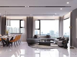 Bí mật phía sau hào quang của mẫu thiết kế nội thất Senturia Bình Chánh bởi Thiết kế nội thất ICONINTERIOR Hiện đại