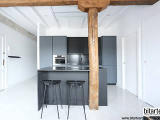 Diseño de vivienda en el Muelle de la Jarana, Donostia-San Sebastián. Bitarte arquitectura & interiorismo Cocinas integrales