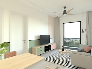 Reizz Residence , Type A2 BOLDNDOT SDN BHD Living roomTV stands & cabinets Multicolored