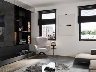 EUROPACITY Minimalistische Wohnzimmer von Oblik Viz Minimalistisch