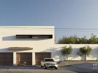 Vértice estudio de arquitectura Terrace house Beige