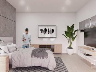 Vértice estudio de arquitectura Minimalist bedroom