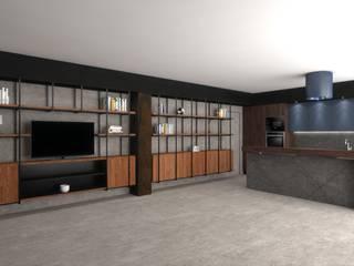 Living Room Gio Studio Soggiorno moderno Grigio