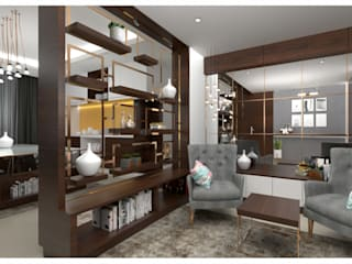 ANANYA ENCLAVE @ BANGALORE Modern living room by The tree design studios Modern
