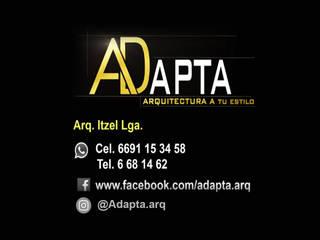 fachadas casas 1 planta de ADapta - Arquitectos Mazatlan
