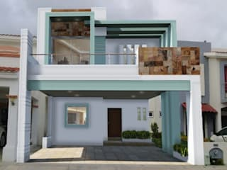 fachada de casas de 2 niveles de ADapta - Arquitectos Mazatlan