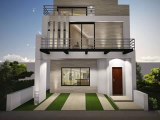 Planos de casas ADapta - Arquitectos Mazatlan Casas unifamiliares Vidrio Beige