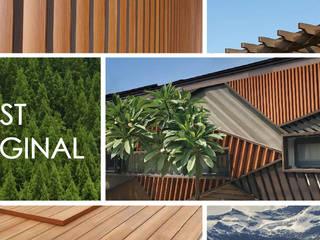 外牆造型格柵 杉澤國際有限公司 牆面 塑木複合材料 Wood effect