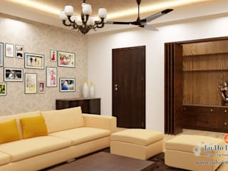 Padappai Project - New Apartment Asian style living room by RESIDENCE INTERIORS Asian