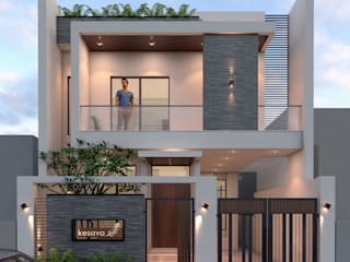 Ravi Prakash Architect Single family home Reinforced concrete Turquoise