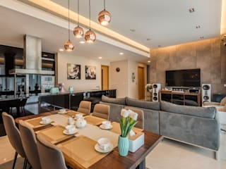 Project : 27 grange road Asian style dining room by E modern Interior Design Asian