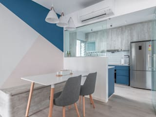 Nordic-Inspired Modern kitchen by Meter Square Pte Ltd Modern