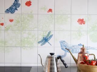 José den Hartog Nhà bếp phong cách chiết trung Gạch ốp lát Blue
