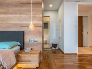 Meter Square Pte Ltd Dormitorios de estilo escandinavo Madera Blanco