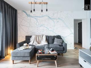 Livings de estilo escandinavo de KODO projekty i realizacje wnętrz Escandinavo