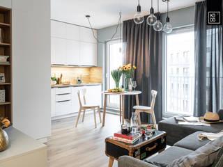 Scandinavian style living room by KODO projekty i realizacje wnętrz Scandinavian