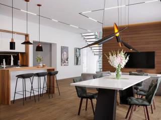 Minimalistische woonkamers van Lear design studio Minimalistisch