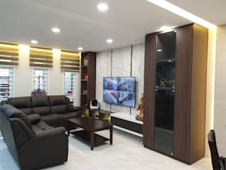 Rebuild intermediate single story terrace to double story. Dterri Interior Design Living room