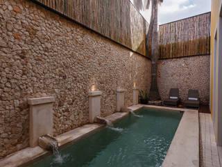Taller Estilo Arquitectura Piscinas modernas Pedra Bege