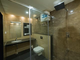 Apartment interiors at Chennai Offcentered Architects Modern bathroom