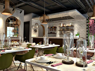 Cafe Tasarımı Beyza Deniz Yaz Interiors Modern