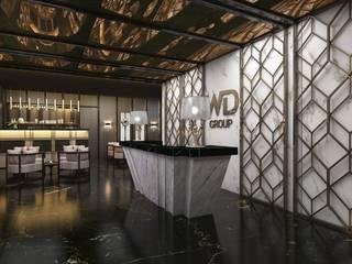 Hotel Lobi Tasarım Modern Koridor, Hol & Merdivenler Beyza Deniz Yaz Interiors Modern