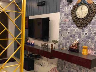 Interior Design Transformation in Hyderabad – Beautiful Modern Home – Ashish & Mandira Modern living room by Cee Bee Design Studio Modern