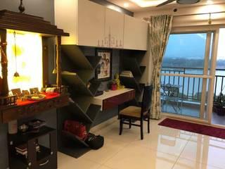 Interior Design Transformation in Hyderabad – Beautiful Modern Home – Ashish & Mandira Modern study/office by Cee Bee Design Studio Modern