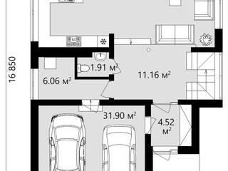 Проект стильного дома с мансардой TMV 51 от TMV Architecture company