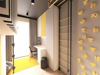 Pokój dla chłopca Wkwadrat Architekt Wnętrz Toruń Pokój dla chłopca Drewno Szary