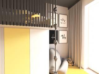 Pokój dla chłopca Wkwadrat Architekt Wnętrz Toruń Pokój młodzieżowy Płyta MDF Czarny