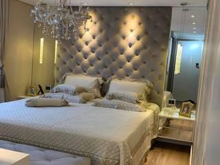 Dormitório Suite Master Novais Mobiliário QuartoCriado-mudo MDF Branco