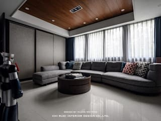 高雄 H宅 舊屋翻新 现代客厅設計點子、靈感 & 圖片 根據 綺瑞室內裝修設計工程有限公司 現代風