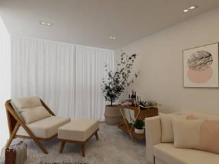 Projeto de decoração de Interiores a distancia Apartamento Alphaville SP por Renata Monteiro Arquitetura e Interiores