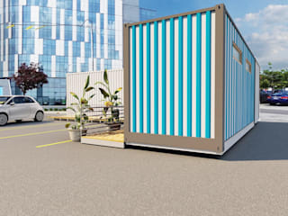 Container Office & Storage Concept by KGOBISA PROJECTS