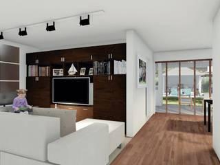 Casa americana 3 Livings modernos: Ideas, imágenes y decoración de ArquiLab.Cba Moderno