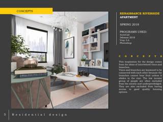 Căn hộ chung cư Renaissance Riverside: hiện đại  by LAGOM STUDIO BOX, Hiện đại