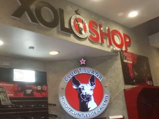 Xolo Shop Plaza Rio Tijuana - Muebles Comerciales Plata Furniture Oficinas y tiendas Madera maciza Rojo