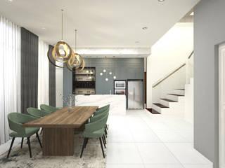 Semi D- Sejati ( Cyberjaya) Dterri Interior Design Minimalist dining room