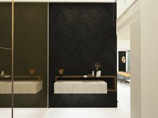 Semi D- Sejati ( Cyberjaya) Dterri Interior Design Minimalist corridor, hallway & stairs