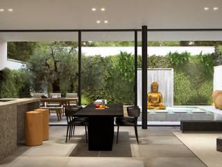 Ampliamento Casa Unifamiliare Sala da pranzo minimalista di marco tassiello architetto Minimalista