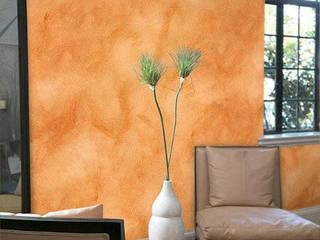 Como sacar la pintura de aceite de la Pared Paredes y suelos de estilo moderno de Reformas Coruña Moderno