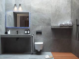 Luce Zenitale Bagno minimalista di marco tassiello architetto Minimalista