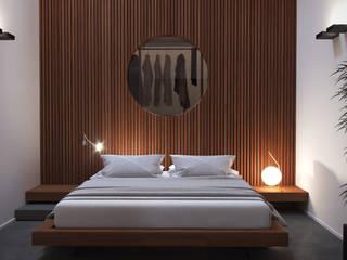 Luce Zenitale Camera da letto minimalista di marco tassiello architetto Minimalista