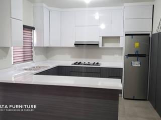 Amueblado Completo Plata Furniture Cocinas equipadas Madera maciza Gris