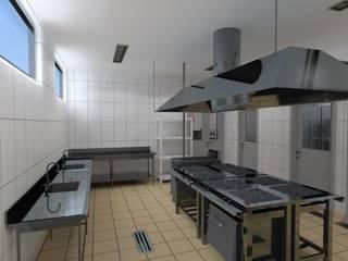 Cory - Restaurante Profissional Cozinhas industriais por JP GOMES ARQUITETURA Industrial