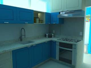 Residência F&F (2020) Cozinhas modernas por JP GOMES ARQUITETURA Moderno