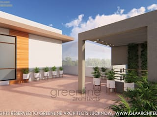 20X40 Feet, 800 sqft House Design with Interior Modern balcony, veranda & terrace by greenline architects Modern